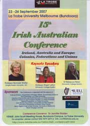 15th Irish Australian Conference